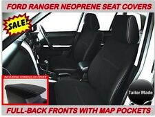 FORD RANGER PX2  FULL- BACK FRONT NEOPRENE SEAT COVERS WITH MAP POCKETS X 2