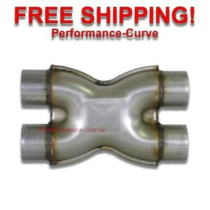 "2.5"" Crossover X Pipe Universal Custom Exhaust - Equalize Pressure"