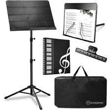 Music Stand Heavy Duty, Professional Stand With Portable Carry Bag And Folder