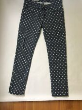 AG Adriano Goldschmied Stevie Ankle in Polka Dot Slim Straight Stretch Jeans 27