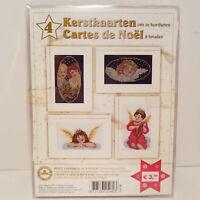 Christmas Angels Embroidery Kit Dutch / French Kerstkaarten / Cartes de Noel NEW
