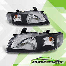 For 2000 2001 2002 2003 Nissan Sentra Factory Style Black Headlights Pair