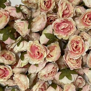Artificial Silk Flower Heads - Pink Peony Style 147 - 5 Pack