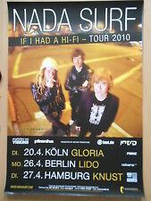 NADA SURF 2010 TOUR  orig.Concert-Konzert-Tour-Poster-Plakat DIN A1