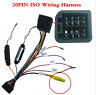 Car Stereo 20PIN ISO Wiring Harness Connector With Rear View Camera IN Adapter