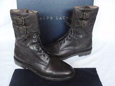 NEW Ralph Lauren MYALL Dark Brown Leather Tall Boots UK 10 USA 11 RRP £515