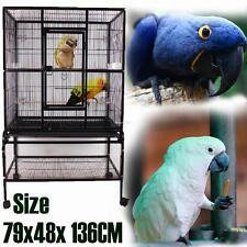 79x48x136CM perroquet Cage voliere a oiseaux style ancienne en fer metal carré