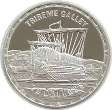 2005 Legendary Fighting Ships Trireme Galley $25 Dollar Silver Proof 1oz Coin
