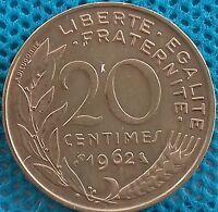 PIÈCE MONNAIE FRANCE 20 Centimes 1962   Ref : 0014