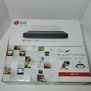 LG BP175 Wired Streaming Blu-ray Disc / DVD Player BP 175 - Black