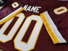 #00 Washington Redskins Custom   Football Jersey Your NAME-Number-Sewn-On.
