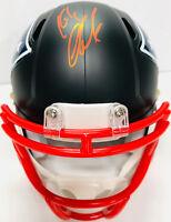 Patriots Rob Gronkowski Autographed Black Mini Helmet Red Beckett BAS