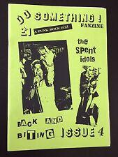 Do Something - over 20 Yr Old PUnK Fanzine Including Spent Idols KBD MINT