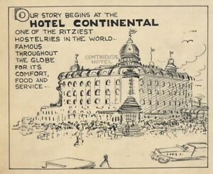 3 VING FULLER Original HOTEL CONTINENTAL Newspaper Daily Comic Strip ART, 1930s