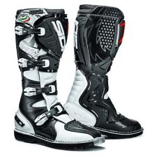 SIDI AGUEDA motorcross mx off road motorcycle boots White Black size 43