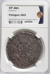 Patagon 1623 Philipp IV Spanische Niederlande, BRABANT, XF