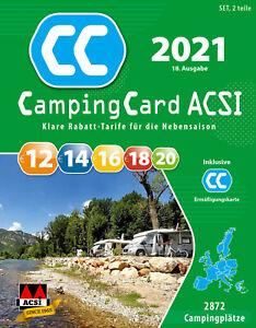 CampingCard ACSI Campingführer 2021 inklusive Ermäßigungskarte