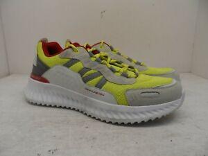 Skechers Men's Ultra Light Memory Foam Insole Athletic Shoe Gray/Neon/Red 9M