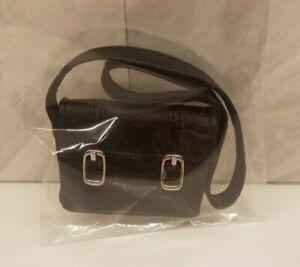 BFC Ink Doll - Bag/ Purse. Black Purse Made of Vinyl w/ Metal Buckles