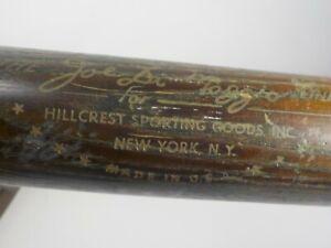 "Vintage 1960s Joe DiMaggio Line Wood Baseball Bat Hillcrest Sporting Goods 33"""