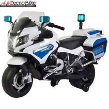 Moto Elettrica per Bambini 12V BMW R1200 Police Bianca