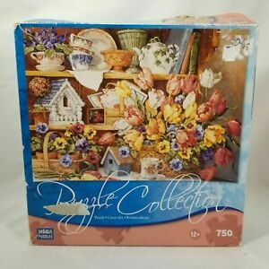 Floral Treasures Jigsaw Puzzle Collection 750 Pcs Vtg 2008 Mega - NOT COUNTED