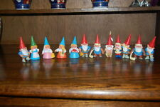 David the Gnome Rien Poortvliet BRB 1980s Spain Lot of 12 Rubber Gnomes Figures