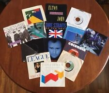"""'70's & '80's British Rock/Pop - 7""""/45 rpm Vinyl Collection - 16 Records In All"""