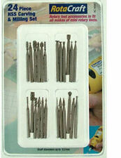 Rotacraft 24 piece HSS Carving and Milling Set For Rotary Tools RC9004
