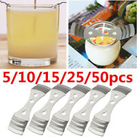10/15/25/50 Metal Candle Wicks Holder Centering Device Candle Making Supplies