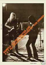 Johnny Winter And 1970 Full Body Johnny & Rick 5x7 Dated White Boarder Europe