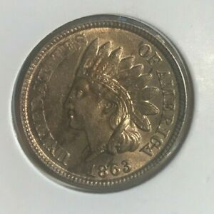 1863 Indian Head Cent - Nice Uncirculated