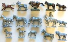 Metal War Gaming Figures, Assorted Horses, Most w/No Saddles 15 Pcs, 18-40mm SAE