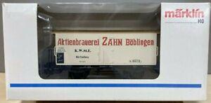 """Marklin  48281.025  Beer Car """"Aktienbrauerei Zahn Boblingen"""""""