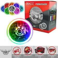 """ORACLE Pre-Installed 7"""" Sealed Beam LED Halo Headlights - All Colors - #6905"""
