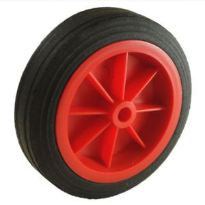 160x80mm Red Plastic Replacement Wheel For Trailer Caravan Jockey Wheels 13mm...