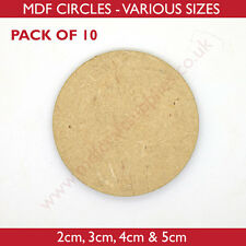 MDF Circles - 2cm, 3cm, 4cm or 5cm Wooden disc - Pack of 10 or 25