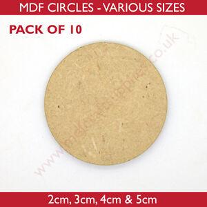 MDF Circles - 2cm, 3cm, 4cm or 5cm Wooden disc - Packs of 10, 25, 50 or 100