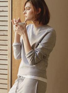 Handvaerk Varsity Sweatshirt Medium Grey Melange Gray
