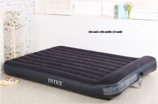 Genuine Intex King Plush Raised Air Bed Inflatable Mattresses