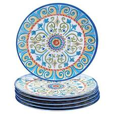Certified International Corp Tuscany Dinner Plate 11\  Multicolored Set ...  sc 1 st  eBay & Novelty Melamine Dinnerware Plates | eBay