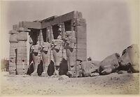 Egitto Tebe Foto Albumina Di Beato Piccolo Formato 9x13cm Ca 1880