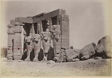 Egypte Thèbes Photo Albumine de Beato petit format 9x13cm ca 1880