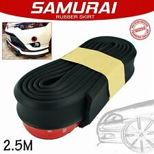 SAMURAI Universal 7155 Black Car Front Bumper Spoiler Splitter Rubber Lip Skirt