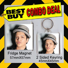 BRUNO MARS KEYRING & FRIDGE MAGNET - CD COVER PRODUCT
