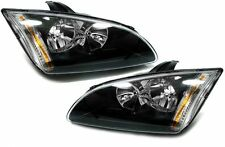 black clear Finish headlights H7 H1 front lights for Ford Focus II 04-08