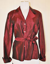 JS COLLECTIONS sz P10 Shiny Maroon/Burgundy Holiday Party Layering Jacket Top