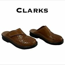 Clarks Thatched Mules Size 5M EUC