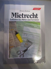 Mietrecht;Johannes Beuthner;Leitfaden für Mieter und Vermieter;Falkenverlag 1985