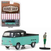 VW T2 Double Crew Cab DoKa - Volkswagen + Backpacker Figur** Greenlight 1:64 OVP